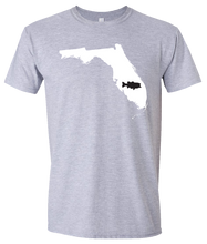Load image into Gallery viewer, Short Sleeve T-Shirt Florida Athletic Heather Large Mouth Bass Vibrant Design High Quality Tight Knit Ring Spun Low Maintenance Cotton Printed With The Newest Available Color Transfer Technology