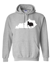 Load image into Gallery viewer, Pullover Hooded Sweatshirt Kentucky Athletic Heather Turkey Vibrant Design High Quality Tight Knit Ring Spun Low Maintenance Cotton Printed With The Newest Available Color Transfer Technology