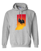 Load image into Gallery viewer, Pullover Hooded Sweatshirt Indiana Athletic Heather Turkey Vibrant Design High Quality Tight Knit Ring Spun Low Maintenance Cotton Printed With The Newest Available Color Transfer Technology