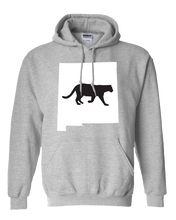 Load image into Gallery viewer, Pullover Hooded Sweatshirt New Mexico Athletic Heather Mountain Lion Vibrant Design High Quality Tight Knit Ring Spun Low Maintenance Cotton Printed With The Newest Available Color Transfer Technology