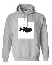 Load image into Gallery viewer, Pullover Hooded Sweatshirt Utah Athletic Heather Large Mouth Bass Vibrant Design High Quality Tight Knit Ring Spun Low Maintenance Cotton Printed With The Newest Available Color Transfer Technology
