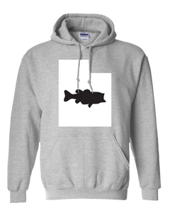 Pullover Hooded Sweatshirt Utah Athletic Heather Large Mouth Bass Vibrant Design High Quality Tight Knit Ring Spun Low Maintenance Cotton Printed With The Newest Available Color Transfer Technology