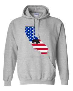 Pullover Hooded Sweatshirt California Athletic Heather Wild Hog Vibrant Design High Quality Tight Knit Ring Spun Low Maintenance Cotton Printed With The Newest Available Color Transfer Technology