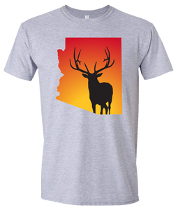 Short Sleeve T-Shirt Arizona Athletic Heather Elk Vibrant Design High Quality Tight Knit Ring Spun Low Maintenance Cotton Printed With The Newest Available Color Transfer Technology