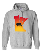 Load image into Gallery viewer, Pullover Hooded Sweatshirt Minnesota Athletic Heather Black Bear Vibrant Design High Quality Tight Knit Ring Spun Low Maintenance Cotton Printed With The Newest Available Color Transfer Technology