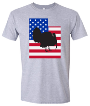 Load image into Gallery viewer, Short Sleeve T-Shirt Utah Athletic Heather Turkey Vibrant Design High Quality Tight Knit Ring Spun Low Maintenance Cotton Printed With The Newest Available Color Transfer Technology