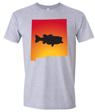 Load image into Gallery viewer, Short Sleeve T-Shirt New Mexico Athletic Heather Large Mouth Bass Vibrant Design High Quality Tight Knit Ring Spun Low Maintenance Cotton Printed With The Newest Available Color Transfer Technology