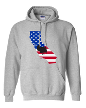 Load image into Gallery viewer, Pullover Hooded Sweatshirt California Athletic Heather Turkey Vibrant Design High Quality Tight Knit Ring Spun Low Maintenance Cotton Printed With The Newest Available Color Transfer Technology