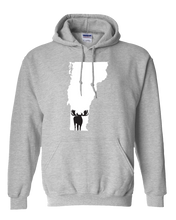Load image into Gallery viewer, Pullover Hooded Sweatshirt Vermont Athletic Heather Moose Vibrant Design High Quality Tight Knit Ring Spun Low Maintenance Cotton Printed With The Newest Available Color Transfer Technology