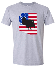 Load image into Gallery viewer, Short Sleeve T-Shirt Arizona Athletic Heather Turkey Vibrant Design High Quality Tight Knit Ring Spun Low Maintenance Cotton Printed With The Newest Available Color Transfer Technology