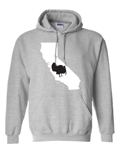 Pullover Hooded Sweatshirt California Athletic Heather Turkey Vibrant Design High Quality Tight Knit Ring Spun Low Maintenance Cotton Printed With The Newest Available Color Transfer Technology