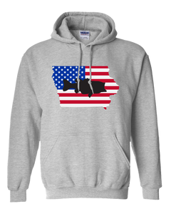Pullover Hooded Sweatshirt Iowa Athletic Heather Large Mouth Bass Vibrant Design High Quality Tight Knit Ring Spun Low Maintenance Cotton Printed With The Newest Available Color Transfer Technology