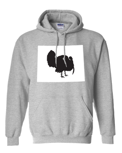Pullover Hooded Sweatshirt Wyoming Athletic Heather Turkey Vibrant Design High Quality Tight Knit Ring Spun Low Maintenance Cotton Printed With The Newest Available Color Transfer Technology