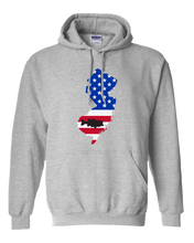 Load image into Gallery viewer, Pullover Hooded Sweatshirt New Jersey Athletic Heather Large Mouth Bass Vibrant Design High Quality Tight Knit Ring Spun Low Maintenance Cotton Printed With The Newest Available Color Transfer Technology
