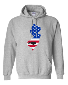 Pullover Hooded Sweatshirt New Jersey Athletic Heather Large Mouth Bass Vibrant Design High Quality Tight Knit Ring Spun Low Maintenance Cotton Printed With The Newest Available Color Transfer Technology