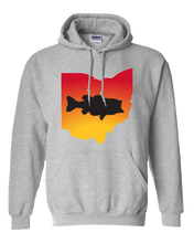 Load image into Gallery viewer, Pullover Hooded Sweatshirt Ohio Athletic Heather Large Mouth Bass Vibrant Design High Quality Tight Knit Ring Spun Low Maintenance Cotton Printed With The Newest Available Color Transfer Technology