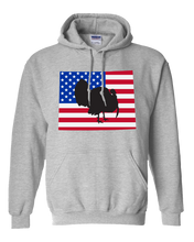 Load image into Gallery viewer, Pullover Hooded Sweatshirt Wyoming Athletic Heather Turkey Vibrant Design High Quality Tight Knit Ring Spun Low Maintenance Cotton Printed With The Newest Available Color Transfer Technology