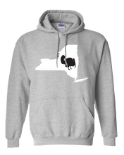 Load image into Gallery viewer, Pullover Hooded Sweatshirt New York Athletic Heather Turkey Vibrant Design High Quality Tight Knit Ring Spun Low Maintenance Cotton Printed With The Newest Available Color Transfer Technology