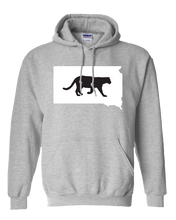 Load image into Gallery viewer, Pullover Hooded Sweatshirt South Dakota Athletic Heather Mountain Lion Vibrant Design High Quality Tight Knit Ring Spun Low Maintenance Cotton Printed With The Newest Available Color Transfer Technology