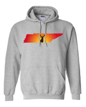 Load image into Gallery viewer, Pullover Hooded Sweatshirt Tennessee Athletic Heather Whitetail Deer Vibrant Design High Quality Tight Knit Ring Spun Low Maintenance Cotton Printed With The Newest Available Color Transfer Technology