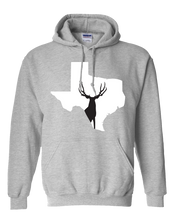 Load image into Gallery viewer, Pullover Hooded Sweatshirt Texas Athletic Heather Mule Deer Vibrant Design High Quality Tight Knit Ring Spun Low Maintenance Cotton Printed With The Newest Available Color Transfer Technology