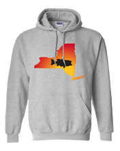 Load image into Gallery viewer, Pullover Hooded Sweatshirt New York Athletic Heather Large Mouth Bass Vibrant Design High Quality Tight Knit Ring Spun Low Maintenance Cotton Printed With The Newest Available Color Transfer Technology