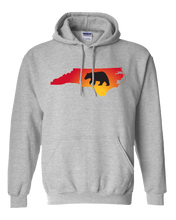 Load image into Gallery viewer, Pullover Hooded Sweatshirt North Carolina Athletic Heather Black Bear Vibrant Design High Quality Tight Knit Ring Spun Low Maintenance Cotton Printed With The Newest Available Color Transfer Technology