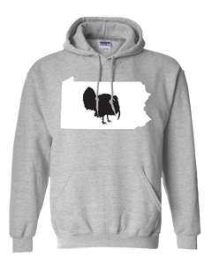 Pullover Hooded Sweatshirt Pennsylvania Athletic Heather Turkey Vibrant Design High Quality Tight Knit Ring Spun Low Maintenance Cotton Printed With The Newest Available Color Transfer Technology