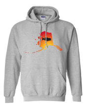 Load image into Gallery viewer, Pullover Hooded Sweatshirt Alaska Athletic Heather Large Mouth Bass Vibrant Design High Quality Tight Knit Ring Spun Low Maintenance Cotton Printed With The Newest Available Color Transfer Technology