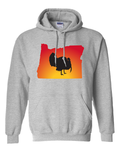 Pullover Hooded Sweatshirt Oregon Athletic Heather Turkey Vibrant Design High Quality Tight Knit Ring Spun Low Maintenance Cotton Printed With The Newest Available Color Transfer Technology