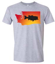 Load image into Gallery viewer, Short Sleeve T-Shirt Washington Athletic Heather Large Mouth Bass Vibrant Design High Quality Tight Knit Ring Spun Low Maintenance Cotton Printed With The Newest Available Color Transfer Technology