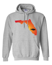 Load image into Gallery viewer, Pullover Hooded Sweatshirt Florida Athletic Heather Large Mouth Bass Vibrant Design High Quality Tight Knit Ring Spun Low Maintenance Cotton Printed With The Newest Available Color Transfer Technology