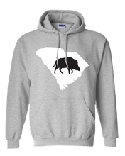 Load image into Gallery viewer, Pullover Hooded Sweatshirt South Carolina Athletic Heather Wild Hog Vibrant Design High Quality Tight Knit Ring Spun Low Maintenance Cotton Printed With The Newest Available Color Transfer Technology