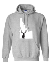 Load image into Gallery viewer, Pullover Hooded Sweatshirt Idaho Athletic Heather Mule Deer Vibrant Design High Quality Tight Knit Ring Spun Low Maintenance Cotton Printed With The Newest Available Color Transfer Technology