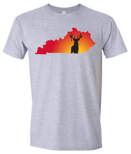 Load image into Gallery viewer, Short Sleeve T-Shirt Kentucky Athletic Heather Whitetail Deer Vibrant Design High Quality Tight Knit Ring Spun Low Maintenance Cotton Printed With The Newest Available Color Transfer Technology