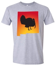 Load image into Gallery viewer, Short Sleeve T-Shirt New Mexico Athletic Heather Turkey Vibrant Design High Quality Tight Knit Ring Spun Low Maintenance Cotton Printed With The Newest Available Color Transfer Technology