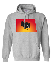Load image into Gallery viewer, Pullover Hooded Sweatshirt North Dakota Athletic Heather Turkey Vibrant Design High Quality Tight Knit Ring Spun Low Maintenance Cotton Printed With The Newest Available Color Transfer Technology