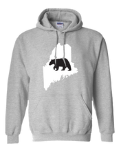 Load image into Gallery viewer, Pullover Hooded Sweatshirt Maine Athletic Heather Black Bear Vibrant Design High Quality Tight Knit Ring Spun Low Maintenance Cotton Printed With The Newest Available Color Transfer Technology