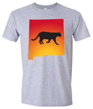 Load image into Gallery viewer, Short Sleeve T-Shirt New Mexico Athletic Heather Mountain Lion Vibrant Design High Quality Tight Knit Ring Spun Low Maintenance Cotton Printed With The Newest Available Color Transfer Technology