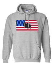 Load image into Gallery viewer, Pullover Hooded Sweatshirt Kansas Athletic Heather Turkey Vibrant Design High Quality Tight Knit Ring Spun Low Maintenance Cotton Printed With The Newest Available Color Transfer Technology