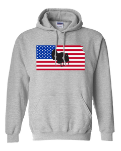 Pullover Hooded Sweatshirt Kansas Athletic Heather Turkey Vibrant Design High Quality Tight Knit Ring Spun Low Maintenance Cotton Printed With The Newest Available Color Transfer Technology