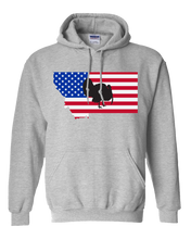 Load image into Gallery viewer, Pullover Hooded Sweatshirt Montana Athletic Heather Turkey Vibrant Design High Quality Tight Knit Ring Spun Low Maintenance Cotton Printed With The Newest Available Color Transfer Technology