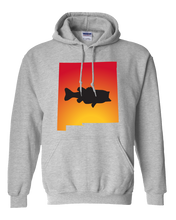 Load image into Gallery viewer, Pullover Hooded Sweatshirt New Mexico Athletic Heather Large Mouth Bass Vibrant Design High Quality Tight Knit Ring Spun Low Maintenance Cotton Printed With The Newest Available Color Transfer Technology