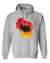 Load image into Gallery viewer, Pullover Hooded Sweatshirt Wisconsin Athletic Heather Turkey Vibrant Design High Quality Tight Knit Ring Spun Low Maintenance Cotton Printed With The Newest Available Color Transfer Technology