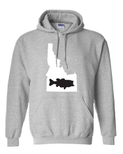 Load image into Gallery viewer, Pullover Hooded Sweatshirt Idaho Athletic Heather Large Mouth Bass Vibrant Design High Quality Tight Knit Ring Spun Low Maintenance Cotton Printed With The Newest Available Color Transfer Technology