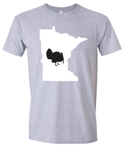 Short Sleeve T-Shirt Minnesota Athletic Heather Turkey Vibrant Design High Quality Tight Knit Ring Spun Low Maintenance Cotton Printed With The Newest Available Color Transfer Technology
