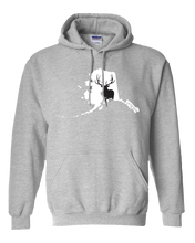 Load image into Gallery viewer, Pullover Hooded Sweatshirt Alaska Athletic Heather Elk Vibrant Design High Quality Tight Knit Ring Spun Low Maintenance Cotton Printed With The Newest Available Color Transfer Technology
