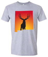 Load image into Gallery viewer, Short Sleeve T-Shirt New Mexico Athletic Heather Mule Deer Vibrant Design High Quality Tight Knit Ring Spun Low Maintenance Cotton Printed With The Newest Available Color Transfer Technology
