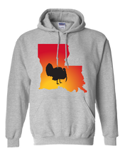 Load image into Gallery viewer, Pullover Hooded Sweatshirt Louisiana Athletic Heather Turkey Vibrant Design High Quality Tight Knit Ring Spun Low Maintenance Cotton Printed With The Newest Available Color Transfer Technology
