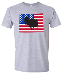 Short Sleeve T-Shirt Wyoming Athletic Heather Turkey Vibrant Design High Quality Tight Knit Ring Spun Low Maintenance Cotton Printed With The Newest Available Color Transfer Technology